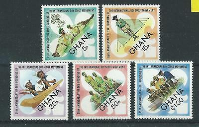 Ghana SG646-650 1972 65th Anniversary of Boy Scouts Hinged Mint