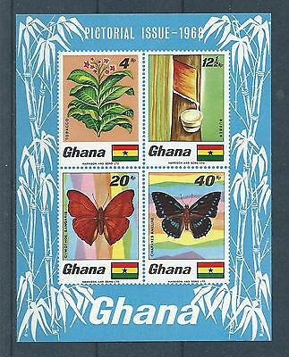 Ghana SG MS515 1968 Flora & Fauna Imperf Mini Sheet Unhinged Mint