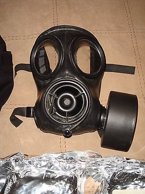 S10 Police/Military Gas Mask respirator (size 1) and accessories