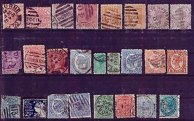 AUSTRALIA STATES Small Selection Mix Used Rare Nice Collection