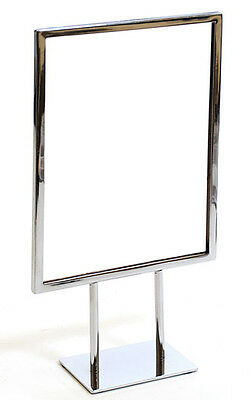 "Countertop Metal Signs Display Holder Stand Chrome 8-1/2""W x 11""H Lot of 20 NEW"