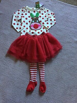 Gorgeous Girls Christmas Outfit Age 2-3 New With Tags
