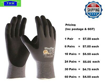 MaxiFlex  Ultimate Nitrile Work Glove 34-874 -10 Pairs