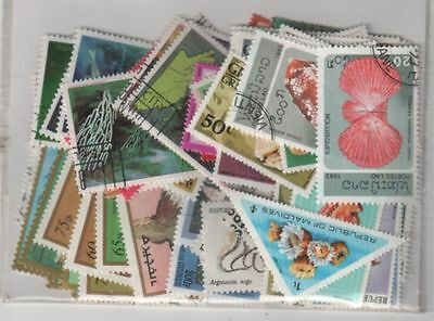 Lot De 100 Timbres Differents - Theme Animaux Coquillages Et Crustaces