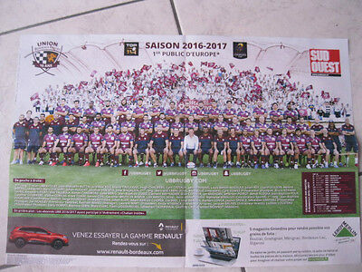 Poster Ubb Rugby Union Bordeaux Begles 2016/2017