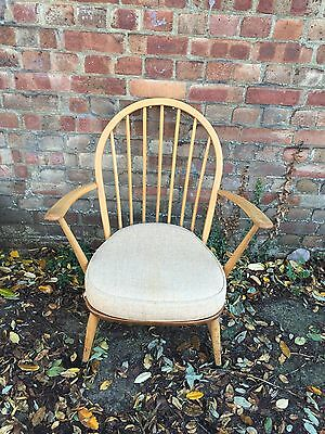 Ercol Low Windsor Chair With Original Cushions