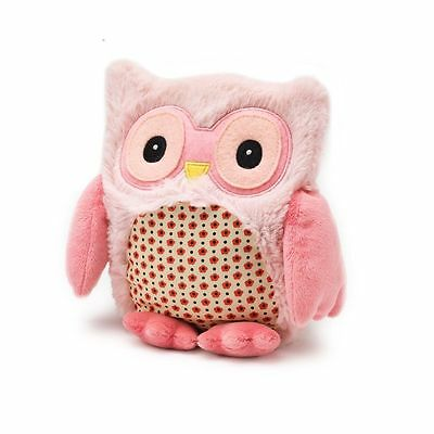 Warmies Hooty Owl PINK Microwavable Heatable Lavender Scented Hottie Cuddly