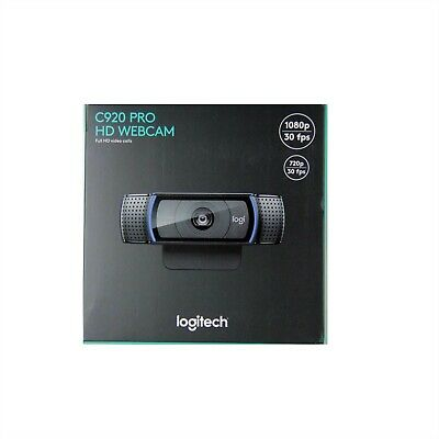 Logitech Webcam C920 Hd Pro 1080P Pc Mac Autofocus H.264 Dual Mic New 960-000764