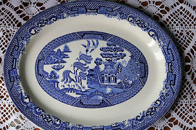 Blue Willow Pattern Platter Plate Enoch Wood and Sons Vintage Stoneware
