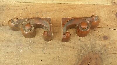 Pair of Walnut Carvings