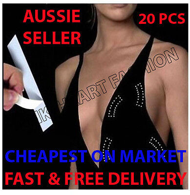 Cheapest On Market Secret Tapes Invisible Hidden Sticky Fashion Dress Bra 20 P
