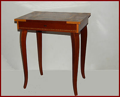 Vintage Italian Wood Marquetry , Music Jewelry Box - table,Reuge Movement (swiss