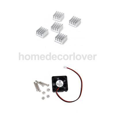 Cooling Fan 5pcs Pure Aluminum Heatsink Kit for Raspberry Pi 2 Model B+