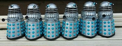 DOCTOR WHO DALEK The Chase Silver Blue Action Figures  job lot of six