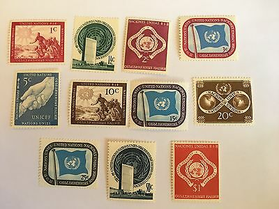 United Nations Un New York Mnh 1951 Set