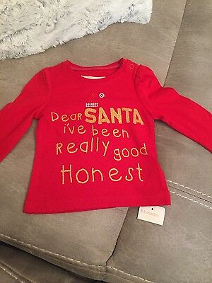 BNWT mothercare 3-6 month Girls long sleeve Christmas top