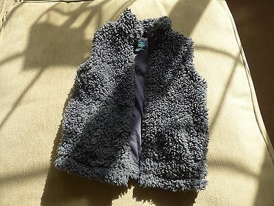 MinI Boden sleveless furry jacket 5-6yrs