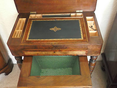 Victorian walnut ladies writing/sewing table
