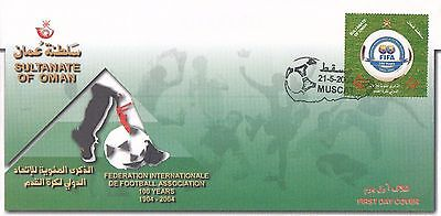 H 2147 Oman May 2004 First Day Cover; FIFA football centenary stamps