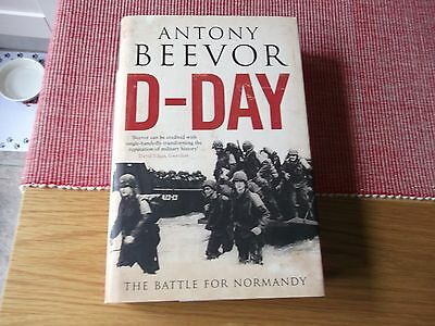 ww2 book,D-DAY,BATTLE FOR NORMANDY BY ANTHONY BEEVOR,HARDBACK