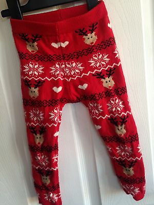 REINDEER LEGGINGS SUIT BOY OR GIRL AGED 12-18 Months FOR CHRISTMAS Party