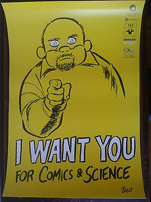 Leo Ortolani (Rat-Man) - Poster Comics For Science - Rarita'