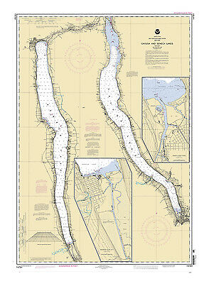 2004 Nautical Map of New York Cayuga and Seneca Lakes