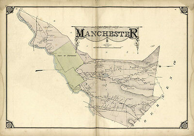 1877 Map of Manchester Township Passaic County New Jersey