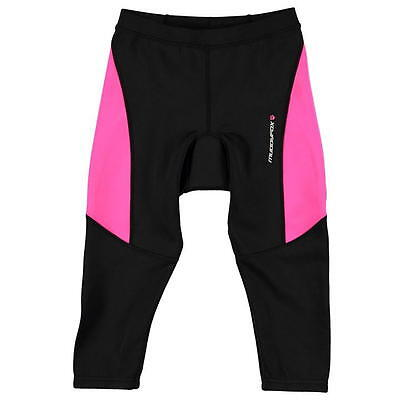 Junior Girls Muddyfox Cycling Padded Capri 9-10 Years 134-140cm Black/Pink FB12