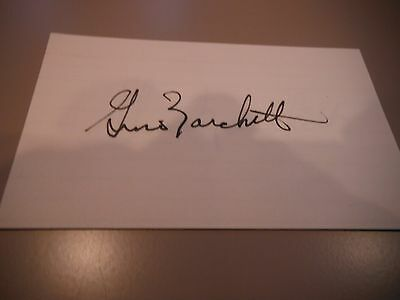 Gino Marchetti Colts Signed 3x5 card Hall Of Famer
