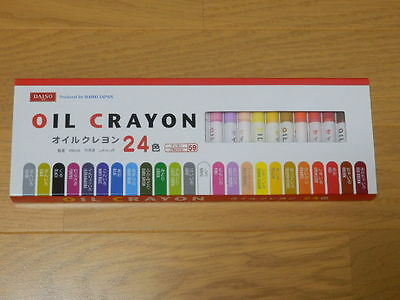 DAISO JAPAN 24 colors Oil Crayon drawing painting F/S