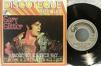 """# G. Glitter ..REMEMBER ME THIS WAY.. ITALY '74 RARE COVER (EX- EX--) 7""""-S00865"""