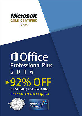 MICROSOFT OFFICE Professional Plus 2016 for WINDOWS-GENUINE-KEY- Proofing Tools
