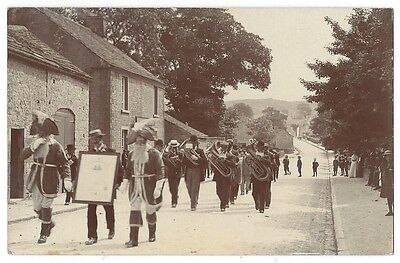 LANCASHIRE Parade with Brass Band Possibly Clitheroe, RP Postcard Unused