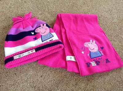 Peppa pig Hat & Scarf Set Aged 4-6