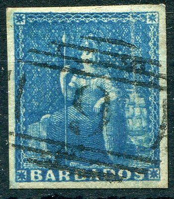Barbados 1855-58 SG10 (1d) deep blue fine to superb used example