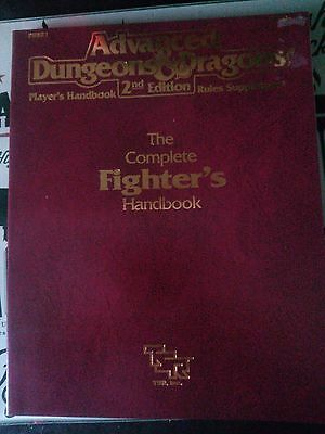 Advanced Dungeons and Dragons 2nd Edition Complete Fighters Handbook