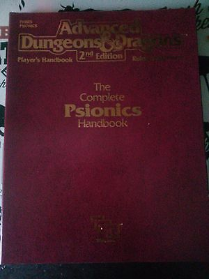 Advanced Dungeons and Dragons 2nd Edition Complete Psionics Handbook