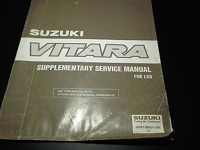 Suzuki Vitara Supplementary Service Workshop Manual LSD 1993