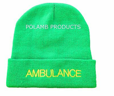 AMBULANCE Beanie / Woolly Hat (LGT GREEN) for PARAMEDIC Medic Emergency St John