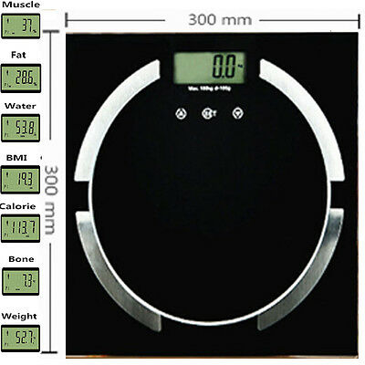 Electronic Digital BMI Calorie Body Fat Bathroom Scale180Kg LCD Weight Weighing