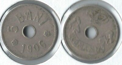 1906 Romania 5 bani coin