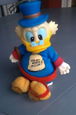scrooge mcduck YOU ARE WORTH A MILLION  toy figure Disney