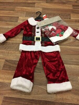 TU Santa Outfit Age 1-2 Years Christmas Father Christmas Fancy Dress New BNWT