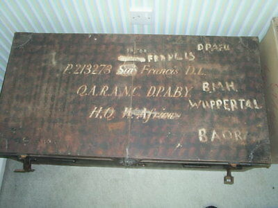 Old Military Tin Trunk