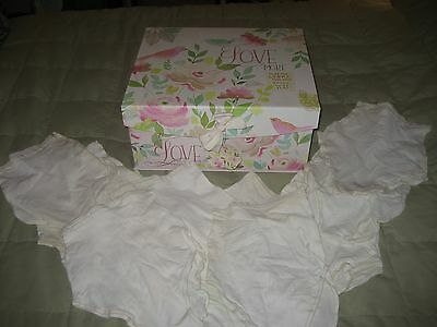 Vintage Ladies Kayser  Nylon Granny Panties Size 5/6 Off White 12 Pair In Lot