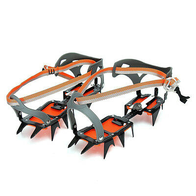 Mountaineering Hiking Crampons 14 Teeth Outdoor Antislip Ice Snow Shoe Spikes SP