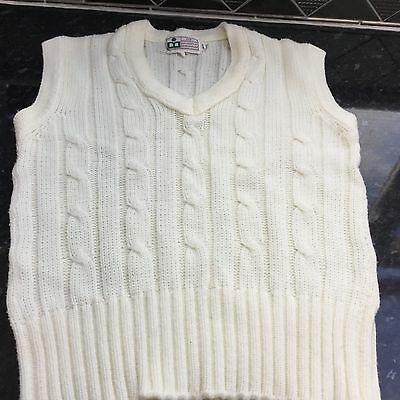 Sleeveless Cricket Sweater  Large