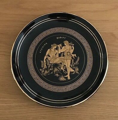 GREEK MYTHOLOGY PLATE 24k Gold Plate Decoration HAND MADE Wall Hanging Plaque