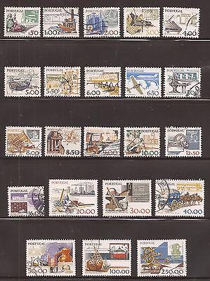 PORTUGAL 1978/83  Scott nr 1360 to 1379 COMPLET SET  22 val -  Work tools